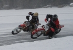 Jim Hovanec and Andy Millier (Bill Millier's son) Ice Racing on Cayuta Lake Jan 2010