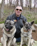 Carl Steckler with two of my furkids